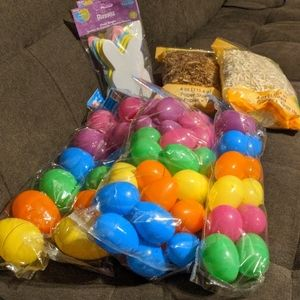 NEW Easter Egg Hunt & Basket Decor with 60 Eggs